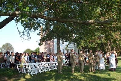 Outdoor Wedding, Woodlawn Farm, Ridge, MD