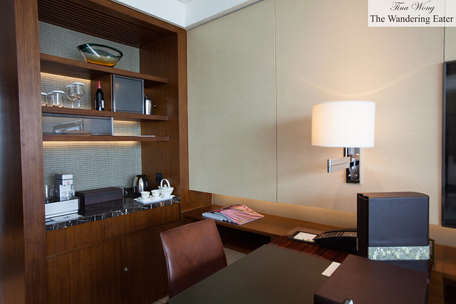 Office area within the suite