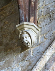 Medieval corbel, the Church of St Peter and St Paul, Gosberton, Lincolnshire, England