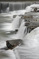 The waterfalls in Almonte, Ontario.