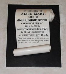 Died at Colchester on Christmas Day 1893