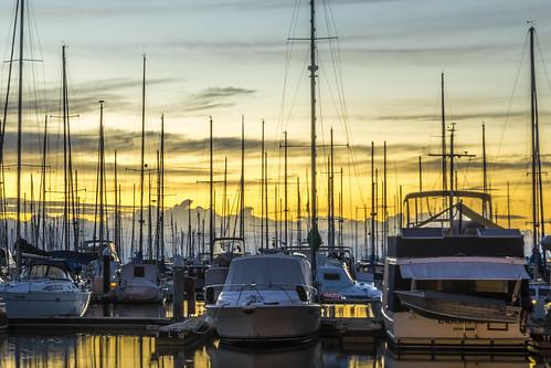 sky clouds sunrise boats manly sunsetsandsunrisesgold cloudsstormssunsetssunrises