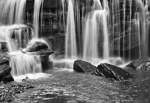 longexposure black cold wales danger landscape rocks spray splash cascade breconbeaconsnationalpark nikond700 blackboulders cwmduglen