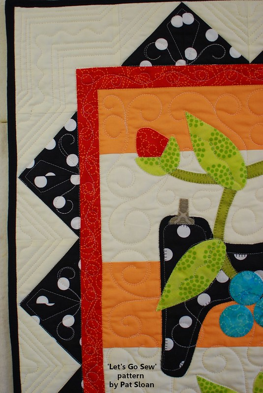 pat sloan lets go sew straight line quilting detail 1