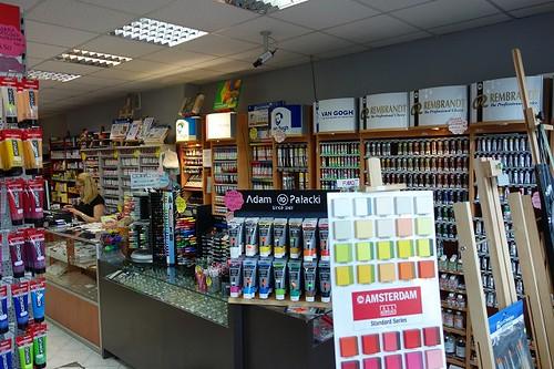 Art supplies shop