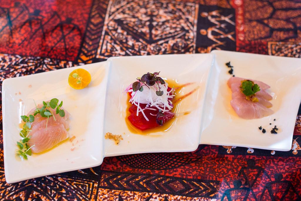 Papa's Sashimi Trio Appetizer