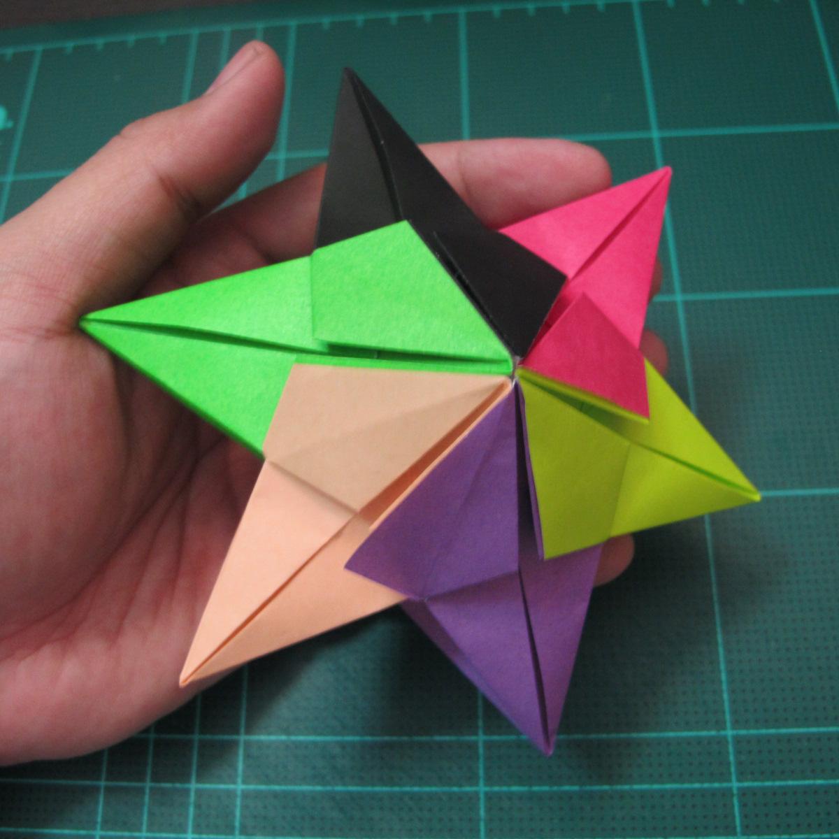 การพับกระดาษแบบโมดูล่าเป็นดาวสปาราซิส (Modular Origami Sparaxis Star) 023