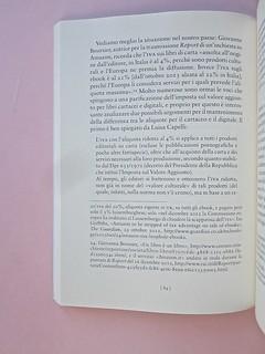Come finisce il libro, di Alessandro Gazoia (Jumpinschark). minimum fax 2014. Progetto grafico di Riccardo Falcinelli. Citazioni di brani di testo, rientrate come al capoverso a six, idem a dx: a pag. 84 (part.), 1