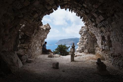 Monolithos ruined Chapel