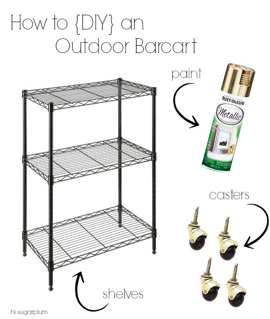Hi Sugarplum | DIY Outdoor Bar Cart