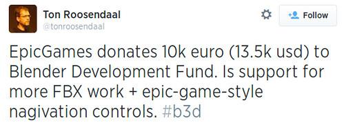 Epic Games szponzorálja a Blender-t
