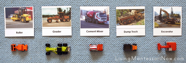 Construction Vehicle Matching Layout