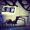 I love spiders. Kill the robot. #graffiti #StreetArt #UrbanArt #spray #stencil #wheatpaste #ENX @enx108 #SoHo #Manhattan #NYC
