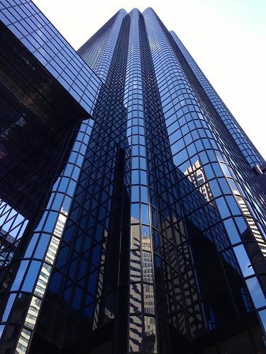 blue black reflection tower glass boston skyscraper district financial exchange exchangeplace