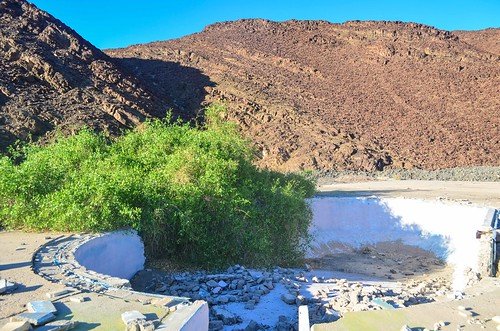 Swimming pool at the Brandberg West Mine, Namibia