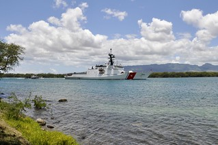 The Coast Guard Cutter Waesche arrives in Pearl Harbor, June 25, 2014, to participate in the 24th occurance of Rim of The Pacific. RIMPAC is the largest multi-national maritime exercise in the world held biennially during June and July of even-numbered years in and around Hawaii. U.S. Coast Guard photo by Lcdr. Steven M. Youde