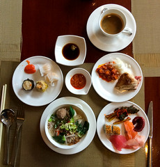 Hotel Mulia, Jakarta. The World's best Breakfast (first course)