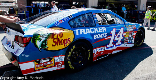 Side view of the Star-Spangled 14 of Tony Stewart
