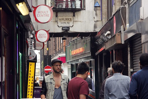 Adults Shops in Soho backstreet