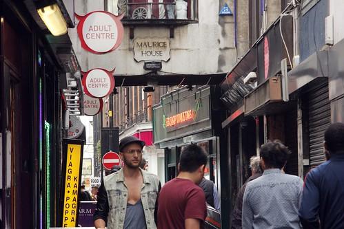 Adults Shops in Soho backstreet