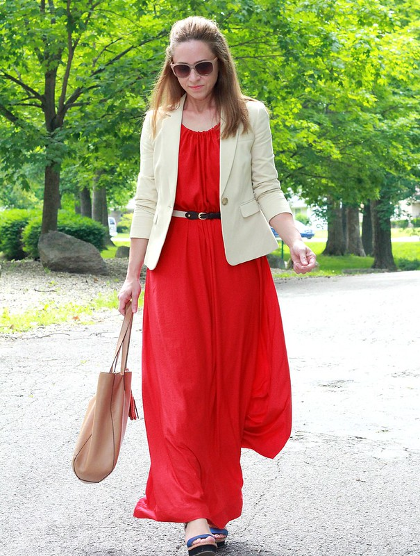 how to style a maxi dress for work via Kristina J blog