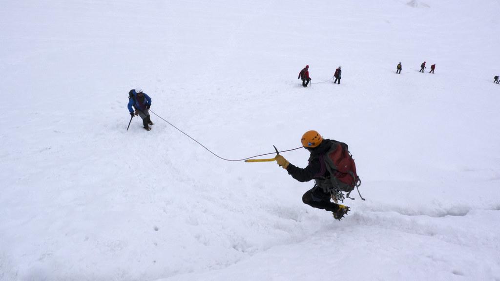 Bergschrund jump