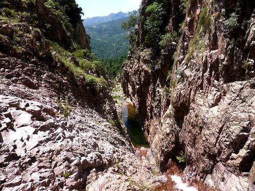 Depuis le haut de la 2ème cascade du Niffru
