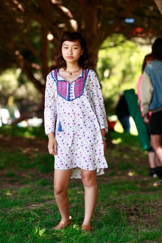 dress yoke street style, Phono del Sol, San Francisco, Quick Shots, women, street fashion