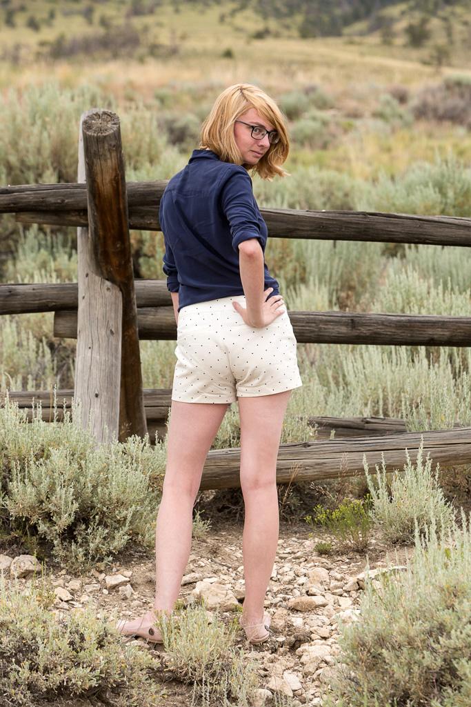 Polka Dot, shorts, popbasic, silk shirt, summer uniform, never fully dressed, withoutastyle,