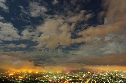 night nightscape cloudy taiwan nightscene 夜景 puli 埔里 虎頭山 nantou 飛行傘 smcpentaxda14mmf28 da14f28 da14