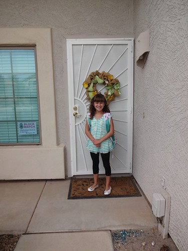 Kimberly on her first day of 5th grade