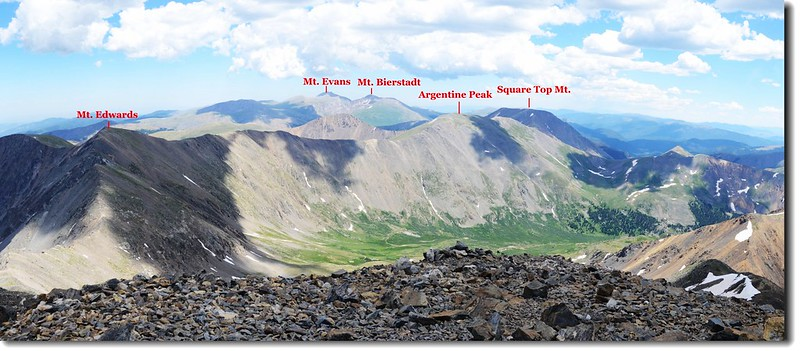 View to the Southeast from Grays Peak's summit 1
