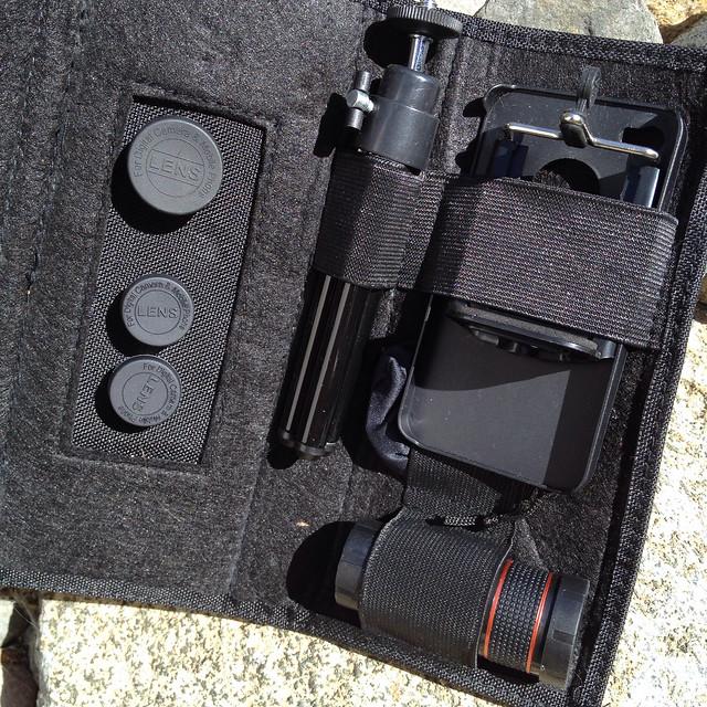 5-in-1 iPhone 4s / 4 2X / 8X Telephoto / Wide Angle (+ Macro) / Fisheye Lens with Tripod Travel Pack - 2