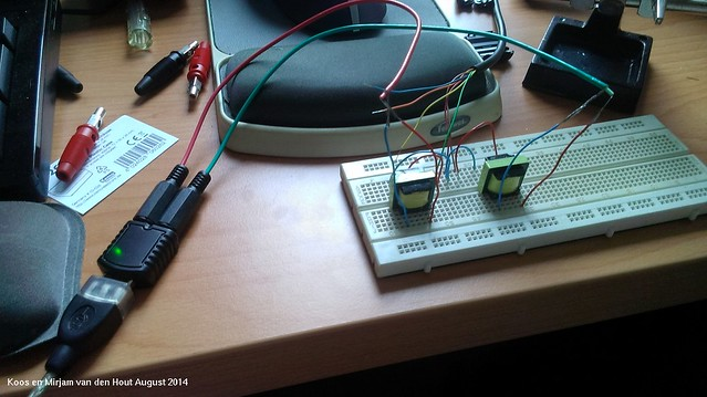 Testing radio data interface with USB audio interface
