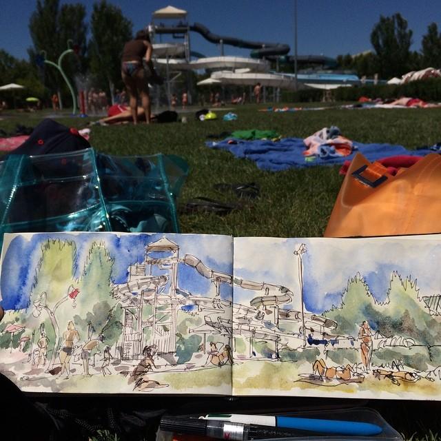 #logroño #urbansketch #bic #watercolor #limitedpalette