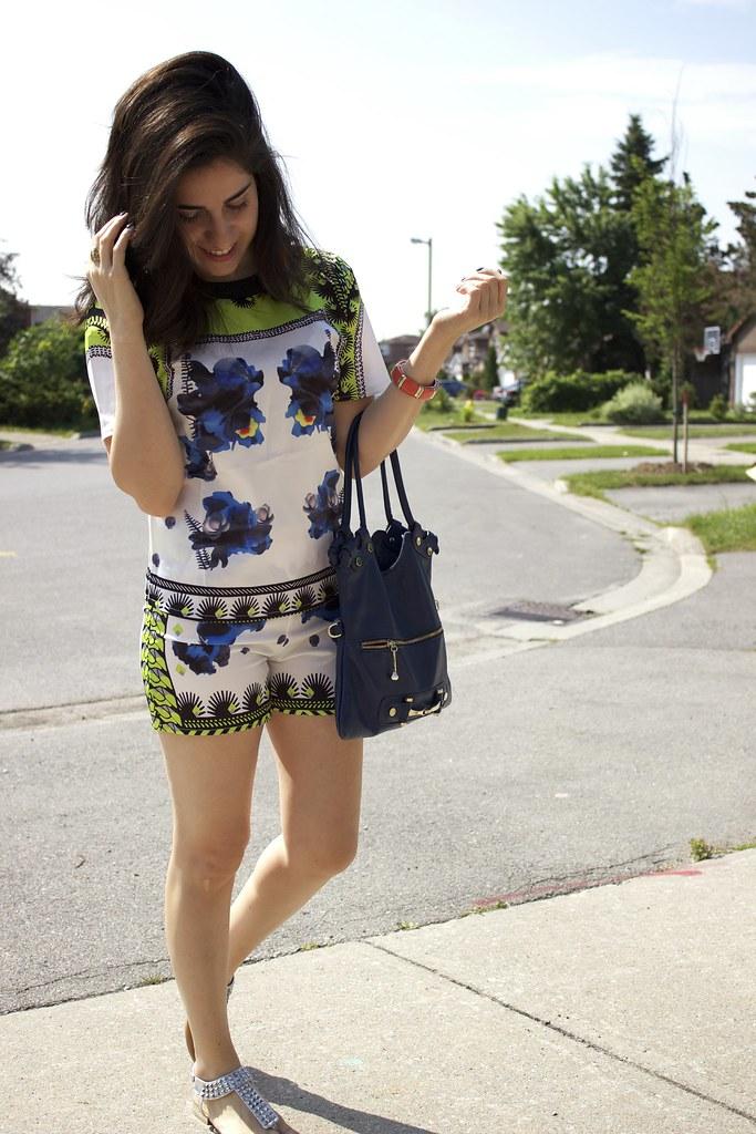 shorts,top,print,summer