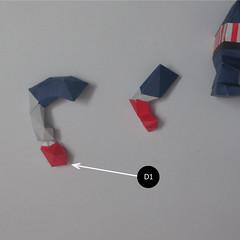 วิธีทำของเล่นโมเดลกระดาษกับตันอเมริกา (Chibi Captain America Papercraft Model) 022