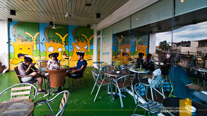 Al Fresco Area at Dagupan's Yellow Tree Café