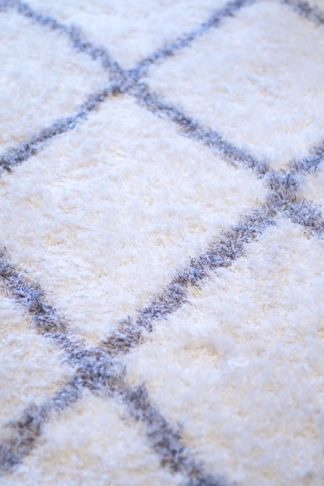 moroccan diamond shag rug in grey