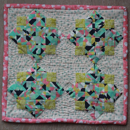 Diamond Chips mini quilt