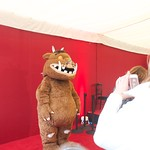 Gruffalo posing for pics at the Edinburgh International Book Festival |