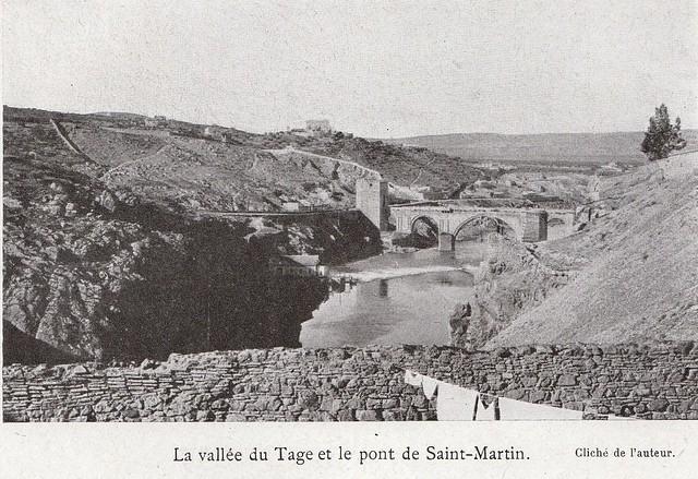 Puente de San Martín a comienzos del siglo XX. Fotografía de Élie Lambert publicada en su libro Les Villes d´Art Célebres: Tolède (1925)