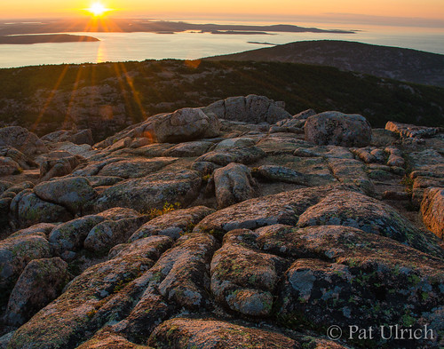 sunrise landscape islands maine granite summit mountdesertisland acadianationalpark earlylight mountcadillac schoodicpeninsula ©patulrich