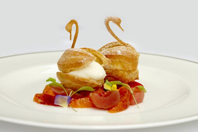 Choux pastry swans © ROH Restaurants 2014