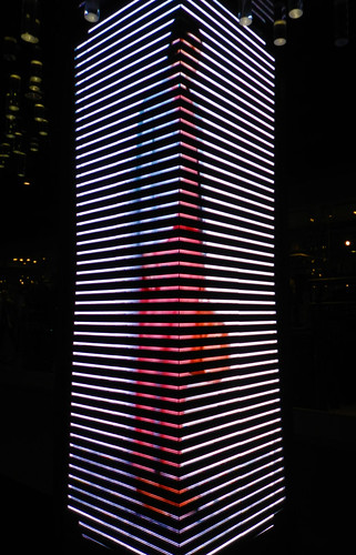 a Light Cube Displaying Fashion in Motion in a Bangkok Mall