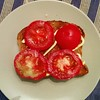Tomato and mayo on toast