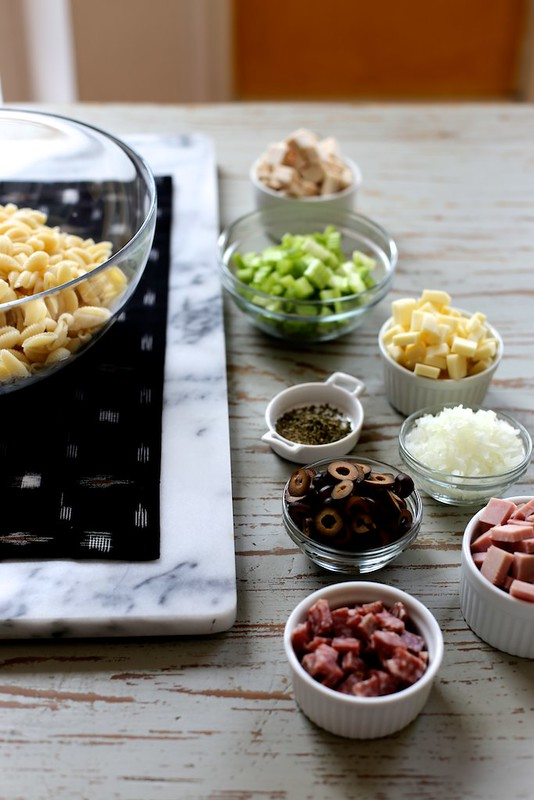 Muffuletta Pasta Salad by joy the baker