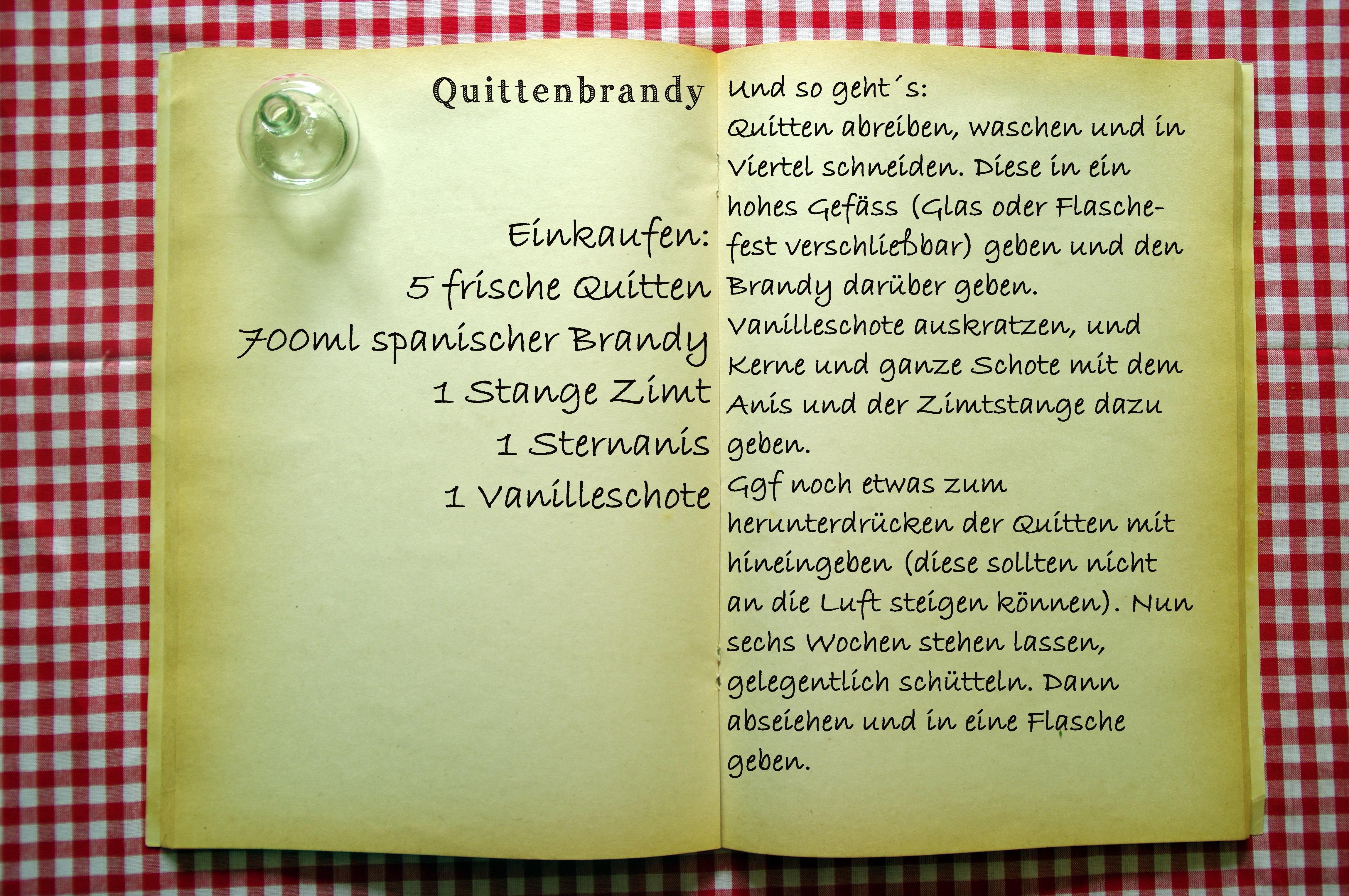 Einkaufszettel Quittenbrandy by Glasgeflüster