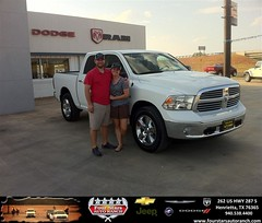 #HappyAnniversary to Jake And Brittany Andrejack  on your 2013 #Ram #1500 from Zach Nichols at Four Stars Auto Ranch!