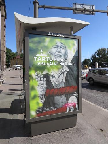 Streetart promoting Tartu in Tallinn